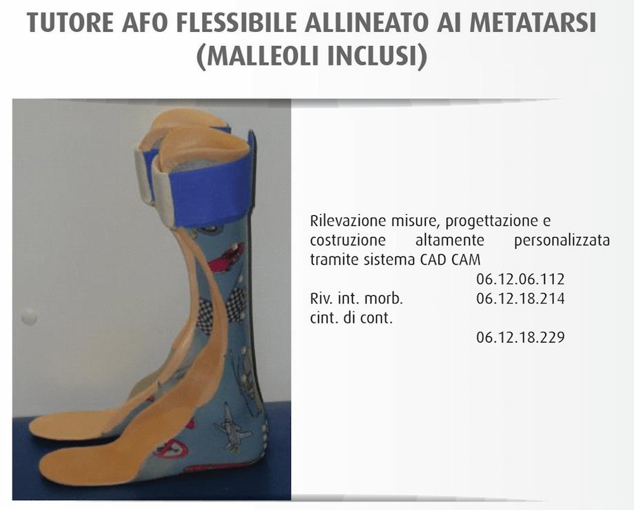 Tutore Afo Flessibile Allineato ai Metatarsi (malleoli inclusi) - OfficineOrtopediche.com